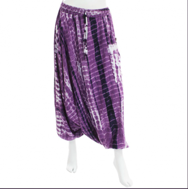 Purple Tie Dye Ali Baba Trousers