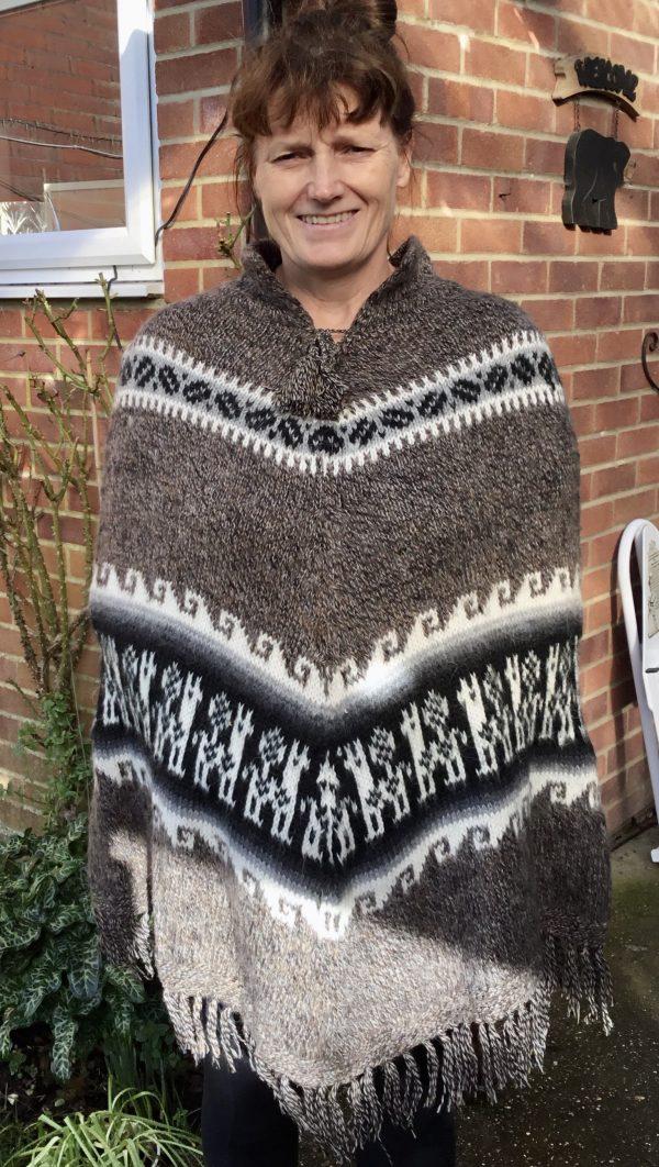 Hand Made Alpaca Wool Poncho